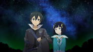 Kirito and Premiere gazing at the night sky