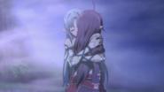 Asuna hugging Yuuki