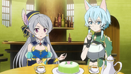 LS Seven and Sinon during teatime