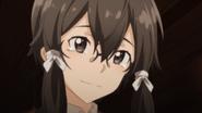 Shino smiling