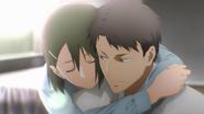 Koujiro Rinko hugging Kayaba Akihiko Alicization OP