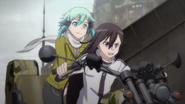 Kirito and Sinon on the buggy