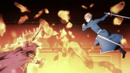 Deusolbert Synthesis Seven and Eugeo about to attack each other - S3EP14