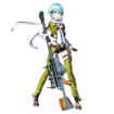 Sinon Fatal Bullet character design