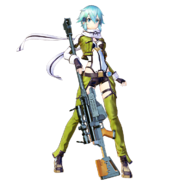 Sinon Fatal Bullet character design