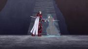 Kirito stabbing Heathcliff