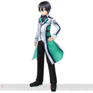 Kirito dressed in Mahouka school uniform