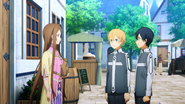 Eugeo and Kirito encountering Sortiliena on their day off - S3E07