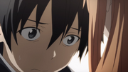 Kirito worrying about Asuna