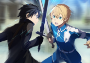 Eugeo and Kirito sparring Limited Alicization Event IF