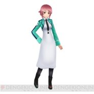 Lisbeth dressed in Mahouka school uniform