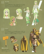 Freyja and Thor character design (booklet)