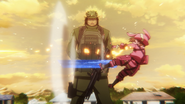 LLENN hit by SHINC's sniper AGGO S01E04