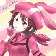 Kusunoki Tomori's LLENN illustration for Karen's birthday 2018