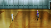 Kirito and Volo facing each other just before their duel - S3E07