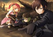Kureha, Shirley, Clarence in DLC2 Betrayal of Comrades Key Visual FB