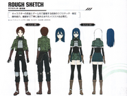Protagonist concept from Fatal Bullet Guide