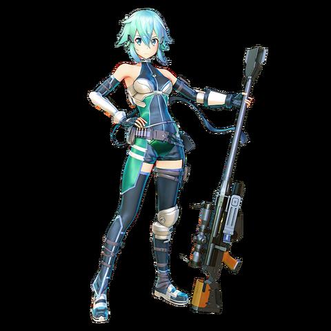 File: Sinon Fatal Bullet design de personagem alternativa.png