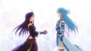 LS Yuuki passing Mother's Rosario to Asuna