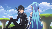 Kirito telling Asuna about converting to GGO