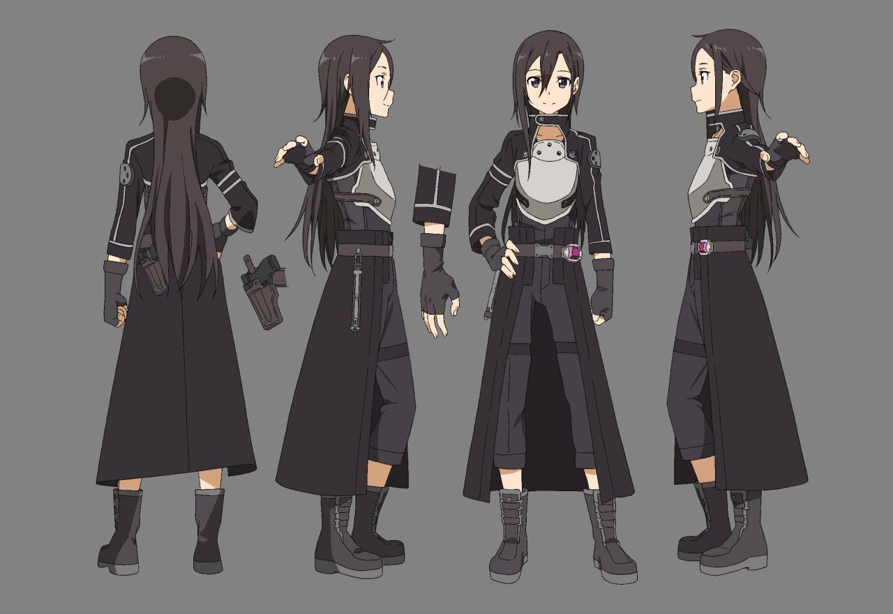 Sao Ausuna Full Body: Image - Kirito-GGO Body-Designs SAOII.png