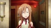 Asuna in Agil's shop in episode 5