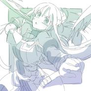 OS Asuna Illustration for OS Manga Volume 3 release (draft)