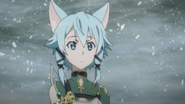 Sinon after retrieving Excalibur