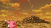 Fukaziroh shooting LLENN during the training for the second Squad Jam tournament AGGO S01E07