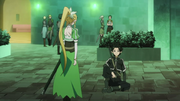 Kirito and Leafa arrive at Swilvane