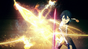 Kirito's sword absorbing resources after he recalled the people important to him - S3E08