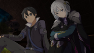 Kirito putting troubled Tia at ease under bridge HR DLC2