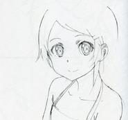 Child Asuna portrait sketch Sao-no-Hanashi art book