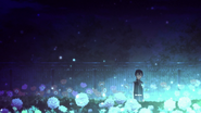 Kirito in awe at the flowers heeding his call Alicization OP