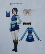 Sachi concept art Integral Factor Gameverse 5th Anniversary Art Book