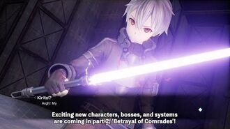 Sword Art Online Fatal Bullet Betrayal of Comrades Trailer PS4, XB1, PC