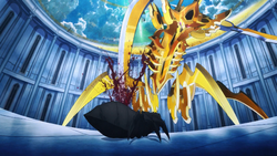 Sword Golem dealing a fatal blow to Charlotte - S3E22