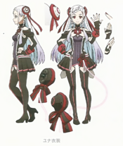 YUNA Character Design Art - SAO Secret Report