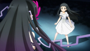 Yui confronted by Persona Vabel