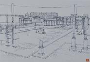 Floor 75 Collinia Teleport Gate Plaza 02 Design Works Artbook
