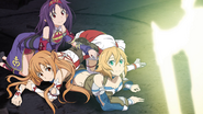 Yuuki, Asuna, Philia discovering Emperors Sword HR