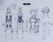 Asuna concept from Fatal Bullet Guide