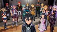 Kirito and company assembling to assist Fatal Bullet Protagonist FB