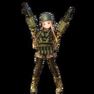 Fukaziroh Fatal Bullet character design