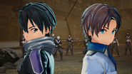 Kirito and male Fatal Bullet Protagonist in Fatal Bullet True End