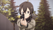 Shino aiming the Government 1911