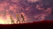 Kirito Eugeo and Alice running Alicization OP