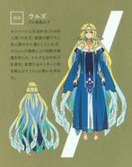 Urd character design (booklet)