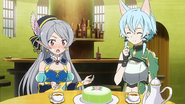 LS Seven embarassed during teatime with Sinon