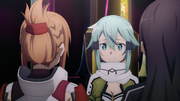 Sinon asking Asuna to meet with her in the real world - S3E01